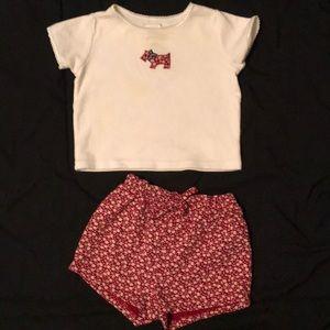 Girls 3-6 month gap outfit shirt & shorts